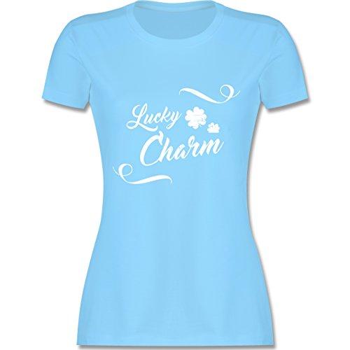 St. Patricks Day - Lucky Charm Vintage - Damen T-Shirt Rundhals Hellblau