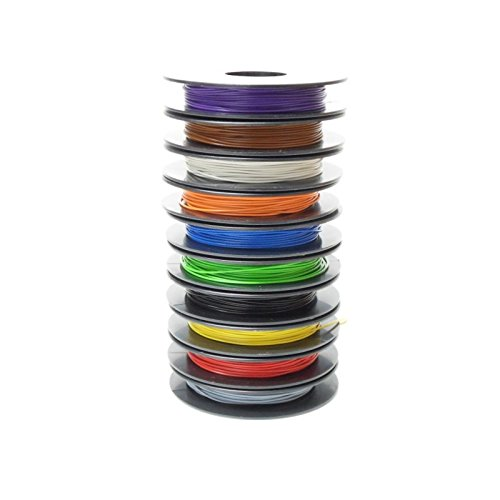 yv cambios de alambre Surtido, 0,5mm, 10x Bobinas de 25m, 10colores