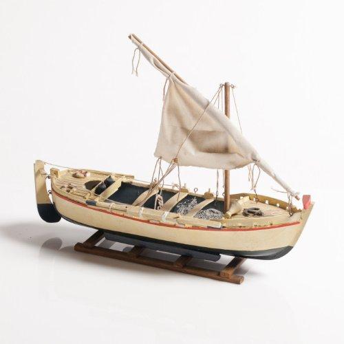 Bootsrute, weiß und marineblau