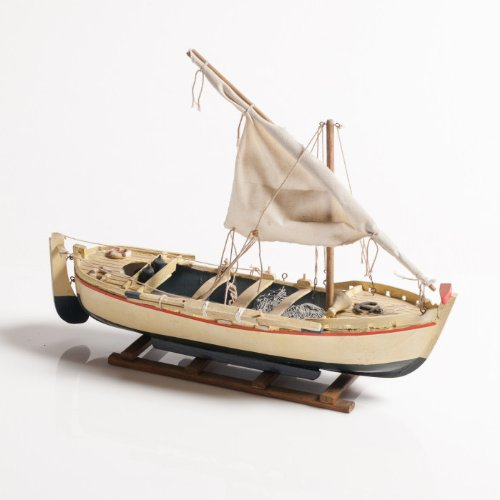 DiKasa Bootsrute, weiß und Marineblau