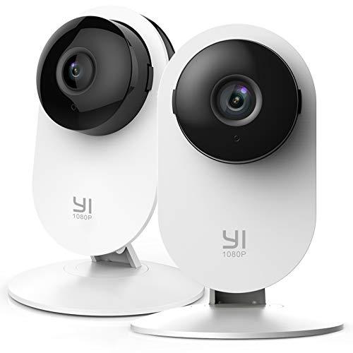 Oferta de YI Cámara Interior de vigilancia IP, 1080 píxeles, WiFi, con detección de Movimiento, notificaciones Push, Audio bidireccional, visión Nocturna, cámara Inteligente para teléfono/PC, Kit de 2