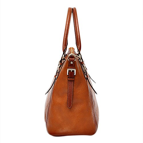 Capacit¨¤ Big Bag Top Shoulder Crossbody Leather Blu Myleas Donne Retro Handle Tote Delle borsa borsa APqTOwR