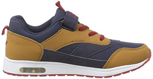 Lico Cool Vs, Chaussures Indoor Garçon Bleu - Blau (marine/beige/rot)