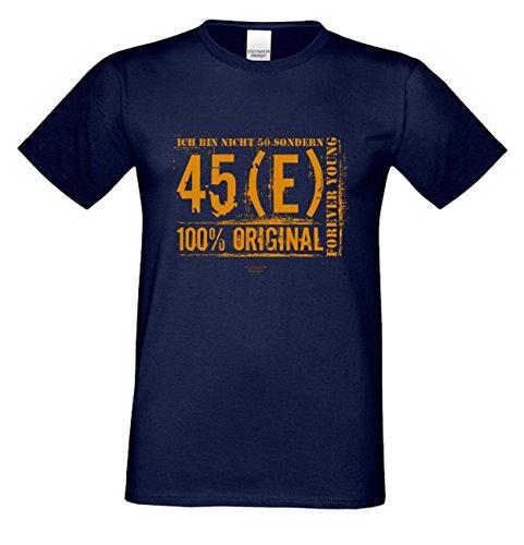 Geschenk zum 50. Geburtstag :-: T-Shirt Geschenkidee für Männer und Frauen :-: Ich bin nicht 50 :-: Geburtstagsgeschenk für Sie Ihn Mama Papa Mutter Vater :-: Farbe: navy-blau Navy-Blau