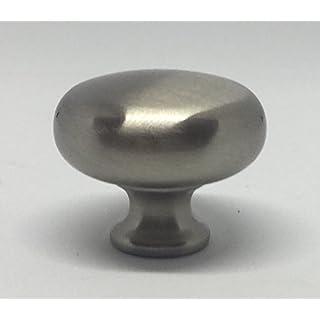 Abrafix 32mm Stainless Steel Finish Cupboard/Wardrobe/Kitchen Door Handle Pull Knob