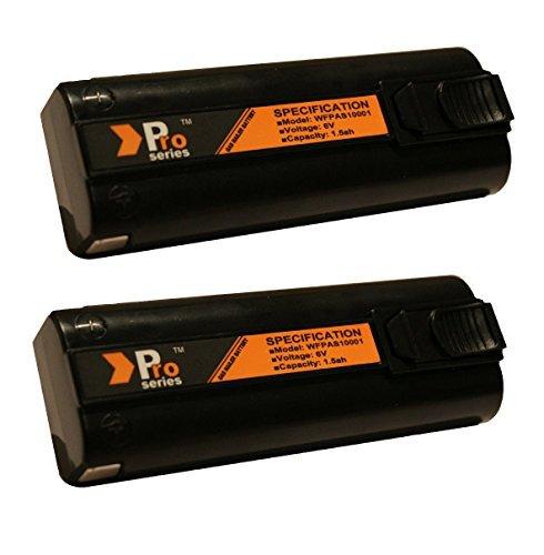 Preisvergleich Produktbild Pro Series Ersatz-Akkus für Nagelpistolen von Paslode, 6V, 1,5Ah, 2Stück