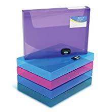 Rapesco Rigid Wallet/Box File - 40mm (Assorted Colours)
