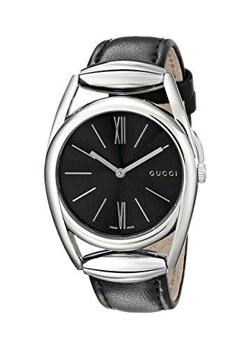 Gucci  YA139401 - Reloj de cuarzo para mujer, con correa de cuero, color negro