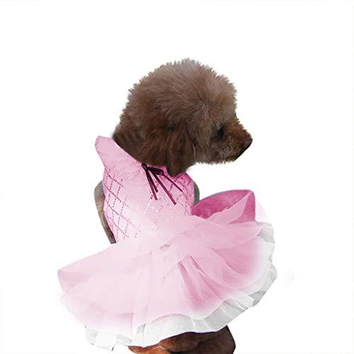 & Queen Hunde Kostüm Katze - Hunde Kleid Hundekleidung Hundebekleidung Pet Dog Dress Kleidung, Hawkimin Elegante Prinzessin Tutu Queen Style für kleine, extra kleine Hund Teddy, Mops, Chihuahua, Shih Tzu, Yorkshire Terrier
