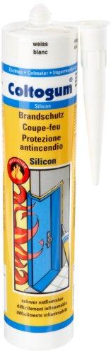 Coltogum 383642 Dichtmasse Brandschutz Silicon 310 ml, weiß