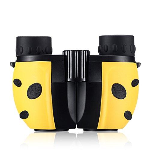 C-Xka Binoculares para Niños, Mini Prismáticos Ligeros para Portátiles Binoculares Ligeros telescopio para Observación de Aves, Viajes (Color : Amarillo)