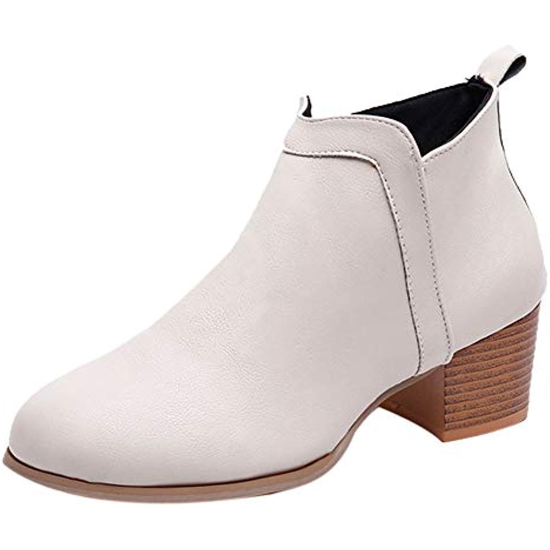 Bottines Femme,Yesmile Mode à Femme Vintage à Talon éPais à Mode  Talon éPais Boots pour Femme Madam - B07H9XZWM5 - 5b43dc