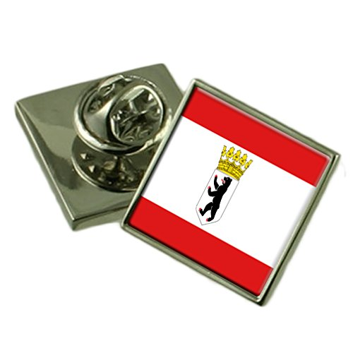 Select Gifts Berlin Flagge Anstecknadel Abzeichen Massiv Silber 925