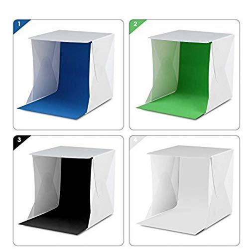 Lichtzelt tragbare Lichtbox Fotografie Kit mit LED-Licht (12X12X12 Zoll) 4 Farben Kulissen