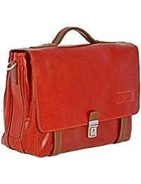 ce21e8eaef CUOIERIA FIORENTINA Cartella Cuoio lavoro pelle Rosso/Bicolore Made Italy