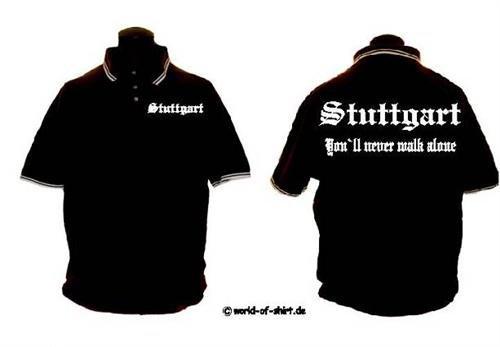 world-of-shirt Herren Polo Shirt Stuttgart Ultras SCHWARZ