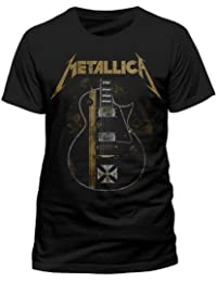 Metallica Hetfield Iron Cross Guitar T-shirt noir