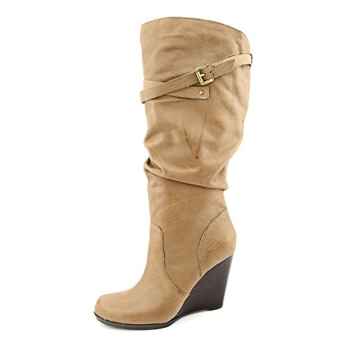 Guess Mally Cuir Botte Taupe
