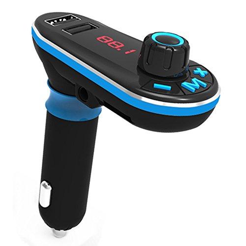 FM-Transmitter, Auledio Wireless Auto Bluetooth Handsfree Car Kit Radio Adapter mit 5V/2.1A USB Ladegerät/USB Flash Treiber/TF Karte für Smartphone, iPod und Mehr mit 3,5mm Audio Jack (Car Audio Sd-karte)