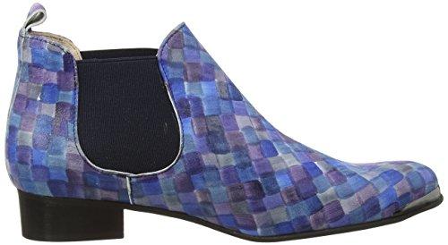 TAPODTS Tess 1, Bottes Chelsea courtes, doublure froide femme Bleu - Blau (1419 blue + Elastic blue)