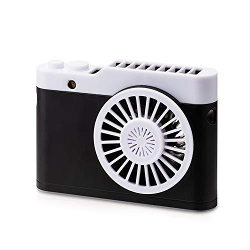NN-xUE Mini Fan, Tragbarer Handventilator Kleine USB Wiederaufladbare 3 Geschwindigkeit Einstellbar Kamera Fan Für Zuhause Outdoor Reise Zimmer,Black -