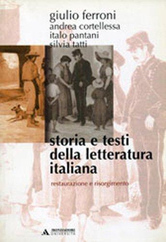 Storia e testi della letteratura italiana: 7