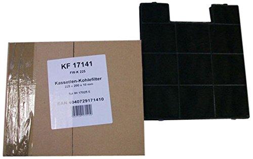 Amica KF 17141 Dunstabzugshaubenzubehör/Kohlefilter für IH 17025 E, KH 17215 E/schwarz