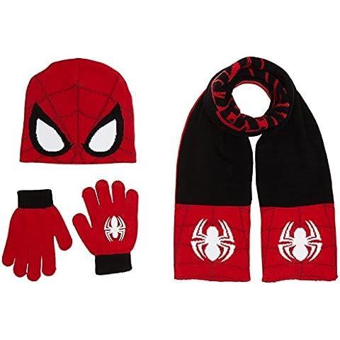 Marvel Spiderman - Set cappello/ sciarpa/ guanti per bambini e ragazzi