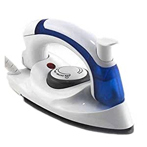 SADVIDHYA Small Size Mini 700w Plastic Portable Foldable Travel Steamer Dry Iron with U-Shape, Built-in Fuse and Thermostat, Adjustable Temperature Control