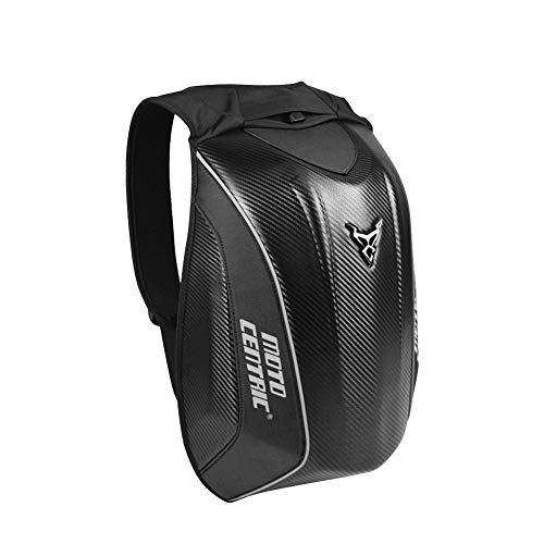 Globalqi portátil Bolsa Moto Mochila de Almacenamiento Robusta de Gran Capacidad de Fibra de Carbono Bolsa de Tortuga Kawasaki Resistente al Agua de Shell rígida Locomotora para Montar al Aire Libre