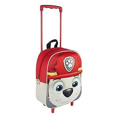 Paw Patrol Mochila trolley Trolley 3D Patrulla Canina Marshall Rojo de PAW PATROL