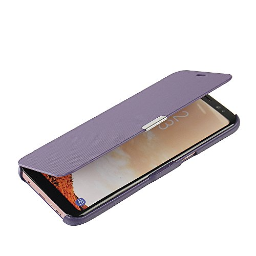 MTRONX für Samsung Galaxy S8 Hülle, Case Cover Schutzhülle Tasche Etui Klapphülle Magnetisch Dünn PU Leder Folio Flip für Samsung Galaxy S8 - Lila(MG-PP) Flip Leder Hard Case