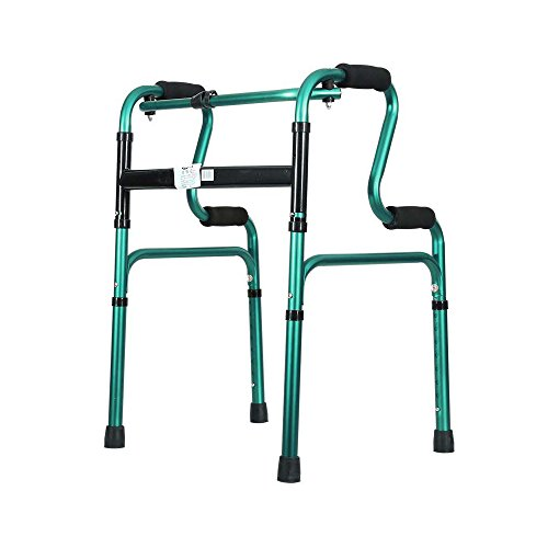 Old Walker/Walking Aid/Standing Walker/Pierna Inferior Walking Walker/Standing Frame Aleación de Aluminio Disabled Walking Aid Altura Ajustable Soporte Plegable para Caminar Verde
