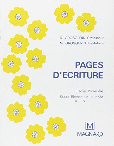 Cahier plume : primevère CE1