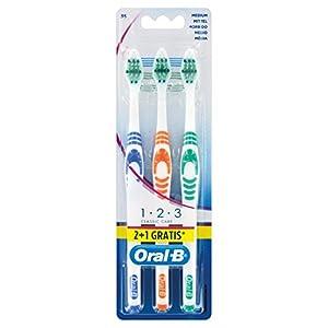 Oral-B 1,2,3 Classic Care Zahnbürste,  2+1 Pack
