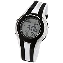 Umbro U553B Gents Watch Quartz Analogue and Digital Grey Dial White Plastic Strap