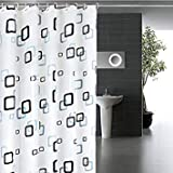 heronsbill : Classic Modern Plaid Pattern 1.8 * 2m Thick Waterproof PEVA Shower Curtain Bathroom Curtain with Hooks