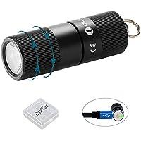 LED-Taschenlampe f/ür das Klettern /Überleben Taschenlampe mit AA-Batterie Camping Jagen Wandern Qsportpeak 3W Mini-Superhelle LED-Taschenlampe mit Schl/üsselanh/änger 1 St/ück