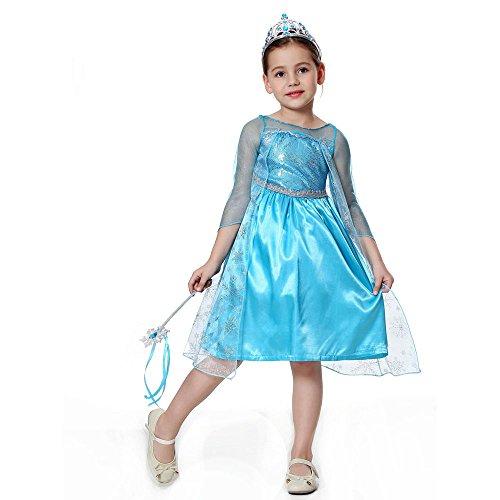 Pretty Princess Mädchen Prinzessin Kostüme Cosplay Kostüm Schneekönigin Party Outfit Alter 6-7 Jahre TS101-130