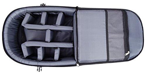 DigiBags DSLR Kamera Tasche wasserdicht mit Objektiv Fach Rucksack professioneller Rucksack Schwarz Und Gelb