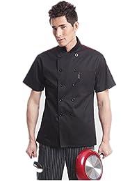 Cocina Uniforme Camisa de Cocinero Manga Corta