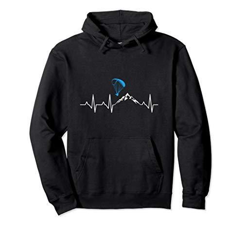 Gleitschirmfliegen Herzschlag Paragleiter Geschenk Pullover Hoodie