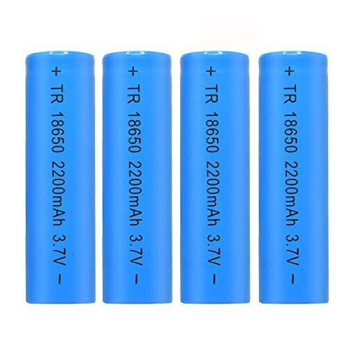 Skryo_ Bateria y Juguetes Skryo👍👍4PCS 3.7V 2200mAH Li-Ion 18650 Recargable para Linterna antorcha