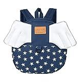 Schulrucksack, Kinderrucksack Schultasche Flügel Cartoon Tier Rucksack Schulranzen (Dunkelblau)