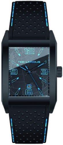 Ted Lapidus 5119305 - Reloj analógico de cuarzo para hombre con correa de piel, color negro