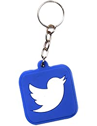 TWITTER LOGO DESIGN KEYCHAIN / TWITER BIRD KEY CHAIN / Twitter Rubber Keychain
