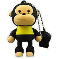 Prime No10400010016 Hi-Speed 2.0 USB-Sticks 16GB Lustiger Affe T-Shirt gelb