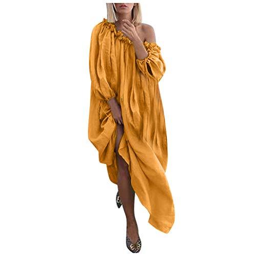 Kostüm Jungen 1950's - DQANIU Frauen Kleid, Frauen Plus Size täglich lässig offene Schulter Vintage lose Böhmen Maxikleid, Party/Dating Urlaub Kleid