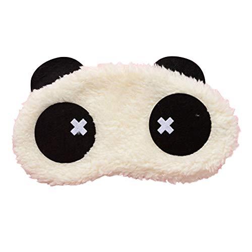 Qinlee Panda Augenbinde Schlaf Augenmaske Plüsch Tuch Schattierung Augenmaske Mädchen Jungen für Stabiler Schlaf Reisen
