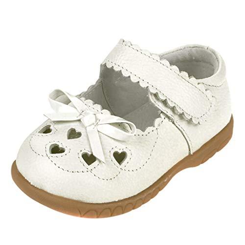 Dtuta Kinder Hohlen LiebesböGen Schnalle Kinderschuhe Atmungsaktiv Weichen Boden Leder Freizeitschuhe Sandalen Einzigen Schuhe Einfarbig Kleinkind Schuhe rutschfest
